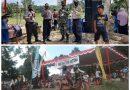 Disela Lomba Germo,  Hj Wirdayanti Sempatkan Diri Panen Dikebun Ketahanan Pangan BKTM Desa Suka Maju