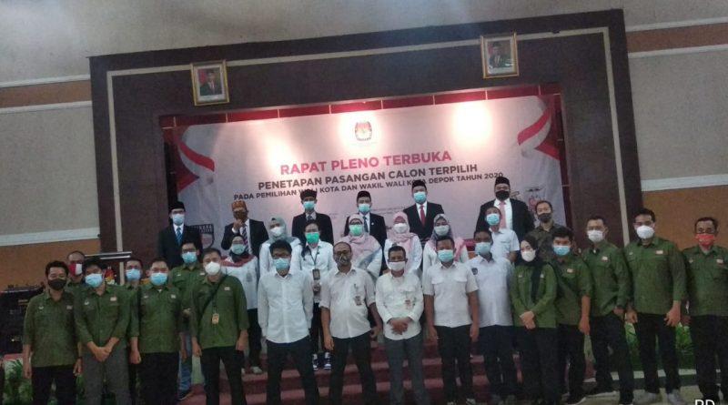 Rapat Pleno KPU Kota Depok Sahkan Idris-Imam Sebagai Walikota dan Wakil Walikota Depok